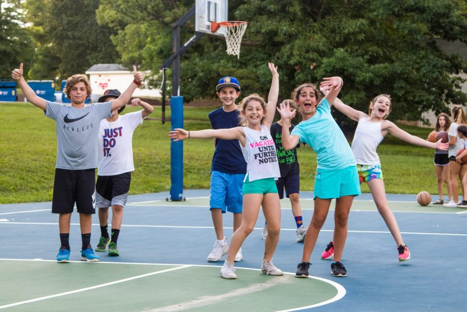 Young Campers on the Basketball Court